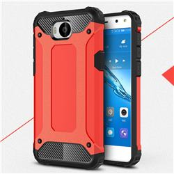 King Kong Armor Premium Shockproof Dual Layer Rugged Hard Cover for Huawei Y5 (2017) - Big Red