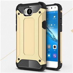King Kong Armor Premium Shockproof Dual Layer Rugged Hard Cover for Huawei Y5 (2017) - Champagne Gold