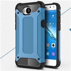 King Kong Armor Premium Shockproof Dual Layer Rugged Hard Cover for Huawei Y5 (2017) - Sky Blue