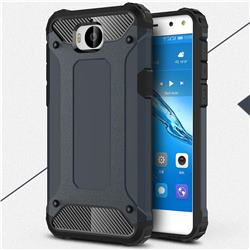 King Kong Armor Premium Shockproof Dual Layer Rugged Hard Cover for Huawei Y5 (2017) - Navy