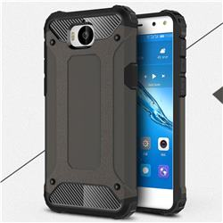 King Kong Armor Premium Shockproof Dual Layer Rugged Hard Cover for Huawei Y5 (2017) - Bronze