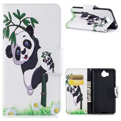 Bamboo Panda Leather Wallet Case for Huawei Y5 (2017)