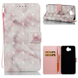 Beige Marble 3D Painted Leather Wallet Case for Huawei Y5 (2017)