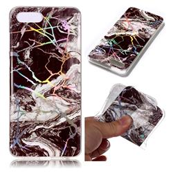 White Black Marble Pattern Bright Color Laser Soft TPU Case for Huawei Y5 Prime 2018 (Y5 2018 / Y5 Lite 2018)
