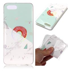 Donuts Marble Pattern Bright Color Laser Soft TPU Case for Huawei Y5 Prime 2018 (Y5 2018)