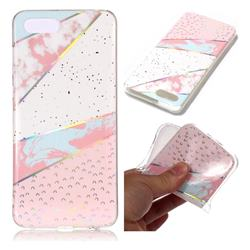 Matching Color Marble Pattern Bright Color Laser Soft TPU Case for Huawei Y5 Prime 2018 (Y5 2018)