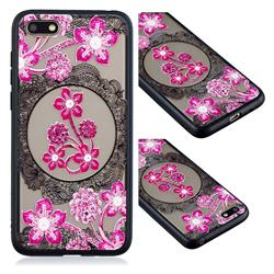 Daffodil Lace Diamond Flower Soft TPU Back Cover for Huawei Y5 Prime 2018 (Y5 2018)