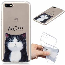 Cat Say No Clear Varnish Soft Phone Back Cover for Huawei Y5 Prime 2018 (Y5 2018 / Y5 Lite 2018)