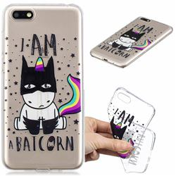 Batman Clear Varnish Soft Phone Back Cover for Huawei Y5 Prime 2018 (Y5 2018 / Y5 Lite 2018)