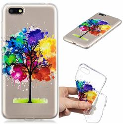 Oil Painting Tree Clear Varnish Soft Phone Back Cover for Huawei Y5 Prime 2018 (Y5 2018 / Y5 Lite 2018)