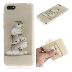 Three Squirrels IMD Soft TPU Cell Phone Back Cover for Huawei Y5 Prime 2018 (Y5 2018 / Y5 Lite 2018)