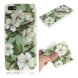 Watercolor Flower IMD Soft TPU Cell Phone Back Cover for Huawei Y5 Prime 2018 (Y5 2018)