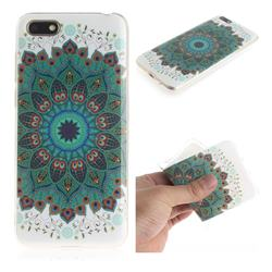Peacock Mandala IMD Soft TPU Cell Phone Back Cover for Huawei Y5 Prime 2018 (Y5 2018)