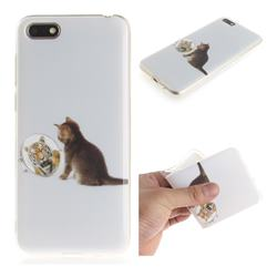 Cat and Tiger IMD Soft TPU Cell Phone Back Cover for Huawei Y5 Prime 2018 (Y5 2018)