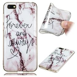 Forever Soft TPU Marble Pattern Phone Case for Huawei Y5 Prime 2018 (Y5 2018)