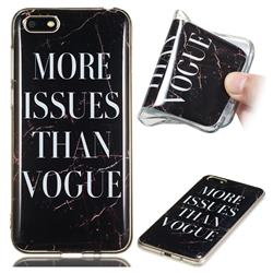 Stylish Black Soft TPU Marble Pattern Phone Case for Huawei Y5 Prime 2018 (Y5 2018)