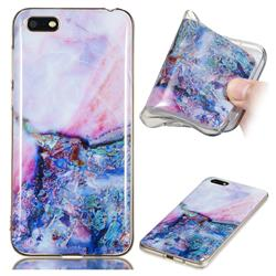 Purple Amber Soft TPU Marble Pattern Phone Case for Huawei Y5 Prime 2018 (Y5 2018)