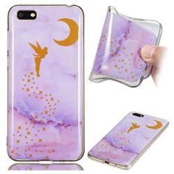 Elf Purple Soft TPU Marble Pattern Phone Case for Huawei Y5 Prime 2018 (Y5 2018)