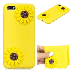 Yellow Sunflower Soft 3D Silicone Case for Huawei Y5 Prime 2018 (Y5 2018)