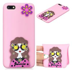 Violet Girl Soft 3D Silicone Case for Huawei Y5 Prime 2018 (Y5 2018 / Y5 Lite 2018)