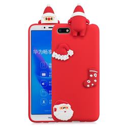Red Santa Claus Christmas Xmax Soft 3D Silicone Case for Huawei Y5 Prime 2018 (Y5 2018)
