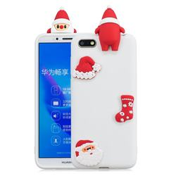 White Santa Claus Christmas Xmax Soft 3D Silicone Case for Huawei Y5 Prime 2018 (Y5 2018 / Y5 Lite 2018)