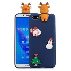 Navy Elk Christmas Xmax Soft 3D Silicone Case for Huawei Y5 Prime 2018 (Y5 2018)