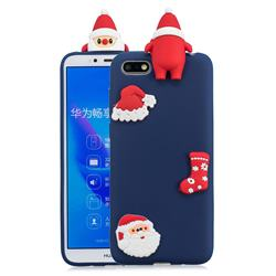 Navy Santa Claus Christmas Xmax Soft 3D Silicone Case for Huawei Y5 Prime 2018 (Y5 2018 / Y5 Lite 2018)