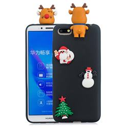 Black Elk Christmas Xmax Soft 3D Silicone Case for Huawei Y5 Prime 2018 (Y5 2018 / Y5 Lite 2018)