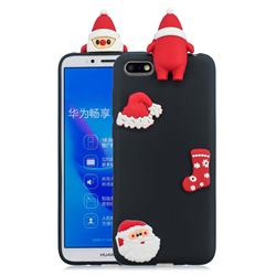 Black Santa Claus Christmas Xmax Soft 3D Silicone Case for Huawei Y5 Prime 2018 (Y5 2018)