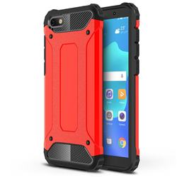 King Kong Armor Premium Shockproof Dual Layer Rugged Hard Cover for Huawei Y5 Prime 2018 (Y5 2018 / Y5 Lite 2018) - Big Red