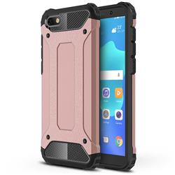 King Kong Armor Premium Shockproof Dual Layer Rugged Hard Cover for Huawei Y5 Prime 2018 (Y5 2018 / Y5 Lite 2018) - Rose Gold