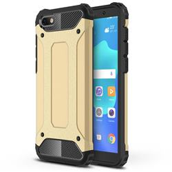 King Kong Armor Premium Shockproof Dual Layer Rugged Hard Cover for Huawei Y5 Prime 2018 (Y5 2018 / Y5 Lite 2018) - Champagne Gold