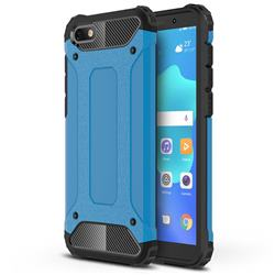 King Kong Armor Premium Shockproof Dual Layer Rugged Hard Cover for Huawei Y5 Prime 2018 (Y5 2018 / Y5 Lite 2018) - Sky Blue