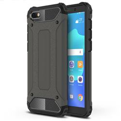 King Kong Armor Premium Shockproof Dual Layer Rugged Hard Cover for Huawei Y5 Prime 2018 (Y5 2018 / Y5 Lite 2018) - Bronze