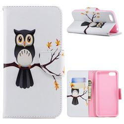 Owl on Tree Leather Wallet Case for Huawei Y5 Prime 2018 (Y5 2018)