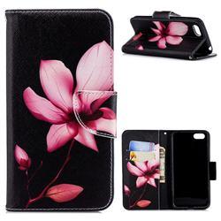 Lotus Flower Leather Wallet Case for Huawei Y5 Prime 2018 (Y5 2018 / Y5 Lite 2018)