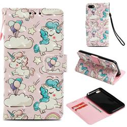 Angel Pony 3D Painted Leather Wallet Case for Huawei Y5 Prime 2018 (Y5 2018 / Y5 Lite 2018)