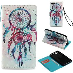 ColorDrops Wind Chimes 3D Painted Leather Wallet Case for Huawei Y5 Prime 2018 (Y5 2018 / Y5 Lite 2018)