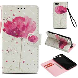 Watercolor 3D Painted Leather Wallet Case for Huawei Y5 Prime 2018 (Y5 2018 / Y5 Lite 2018)