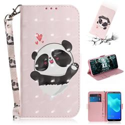Heart Cat 3D Painted Leather Wallet Phone Case for Huawei Y5 Prime 2018 (Y5 2018 / Y5 Lite 2018)