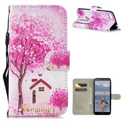 Tree House 3D Painted Leather Wallet Phone Case for Huawei Y5 Prime 2018 (Y5 2018 / Y5 Lite 2018)
