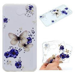 Blue Butterfly Flowers Super Clear Soft TPU Back Cover for Huawei Y5II Y5 2 Honor5 Honor Play 5