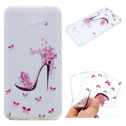 Petal High Heels Super Clear Soft TPU Back Cover for Huawei Y5II Y5 2 Honor5 Honor Play 5