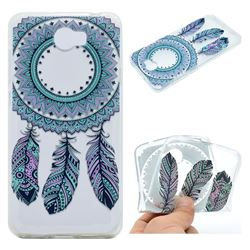 Blue Feather Campanula Super Clear Soft TPU Back Cover for Huawei Y5II Y5 2 Honor5 Honor Play 5
