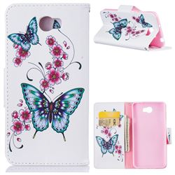 Peach Butterfly Leather Wallet Case for Huawei Y5II Y5 2 Honor5 Honor Play 5