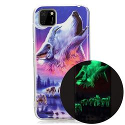 Wolf Howling Noctilucent Soft TPU Back Cover for Huawei Y5p