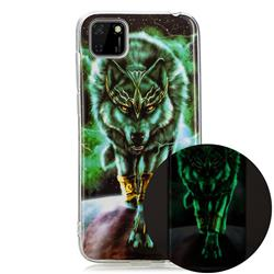Wolf King Noctilucent Soft TPU Back Cover for Huawei Y5p