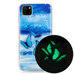 Flying Butterflies Noctilucent Soft TPU Back Cover for Huawei Y5p