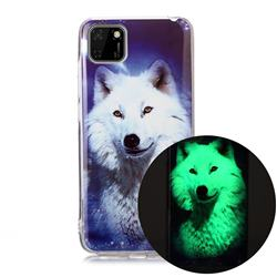 Galaxy Wolf Noctilucent Soft TPU Back Cover for Huawei Y5p